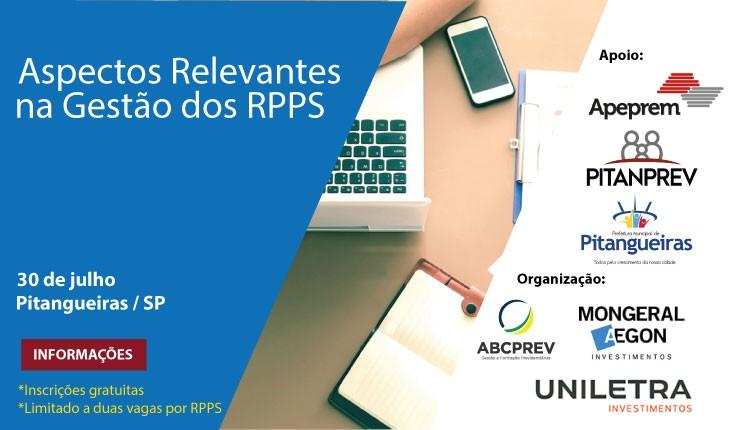 Aspectos relevantes na gestão dos RPPS: Pitangueiras-SP