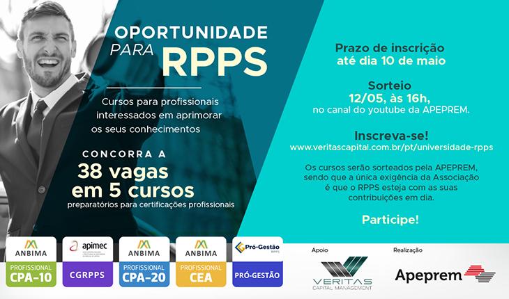 Oportunidade para RPPS | Concorra a 38 vagas | #CPA10, #CGRPPS, #CPA-20, #CEA, #PRÓ-GESTÃO