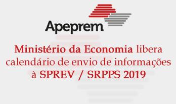 Calendário de envio de Informações à SPREV / SRPPS 2019 é publicado