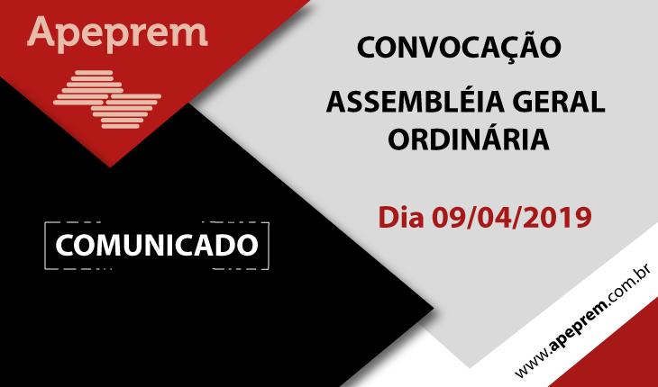 CONVOCAÇÃO ASSEMBLÉIA GERAL ORDINÁRIA