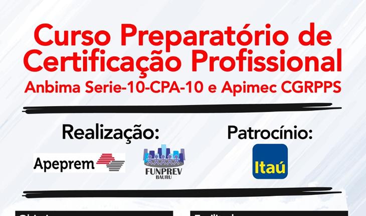 Curso Preparatório de Certificação Profissional