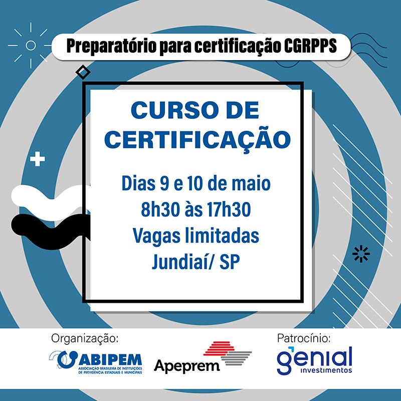ABIPEM e APEPREM realizam o Curso Preparatório para certificação CGRPPS.